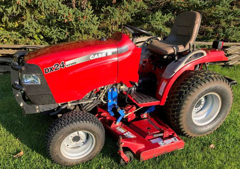 "Case International Harvester DX-24 Compact Tractor, (1165 Hours), 60"" Mower Deck, Diesel, 4WD, 540 PTO, Power Steering, Hydrostatic, Folding ROPS"