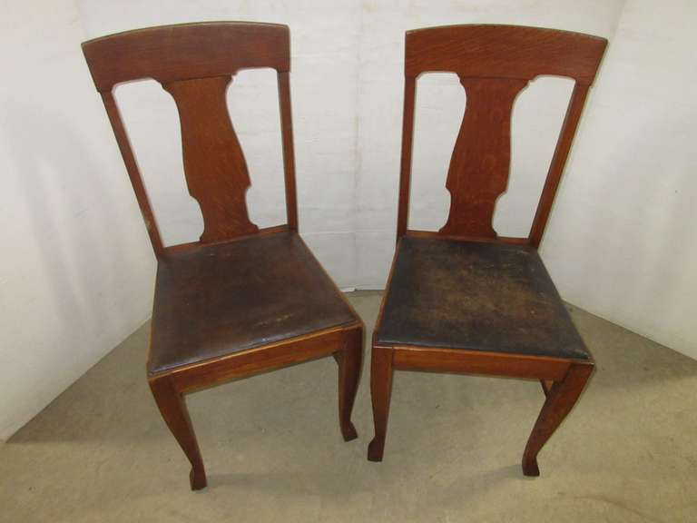 (2) Matching Antique Chairs