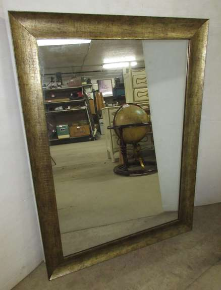 Decorative Mirror Encased in Wood