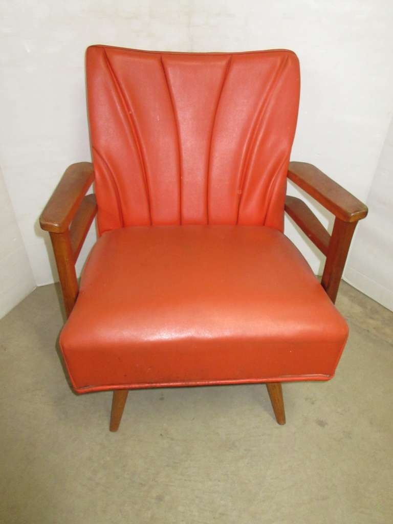 Orange Art Deco Rocker