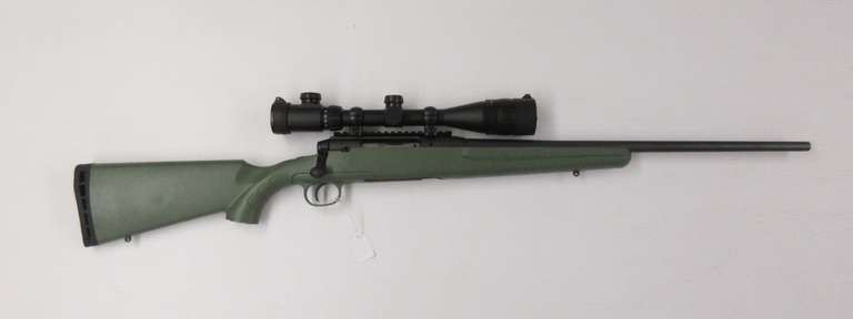 "Savage Axis 6.5 Creedmoor Mint Serial OD Green Stock, 22"" Barrel, with Centerpoint 4-16x40mm Scope Red and Green Lighted Crosshairs with Flip-Up Caps"
