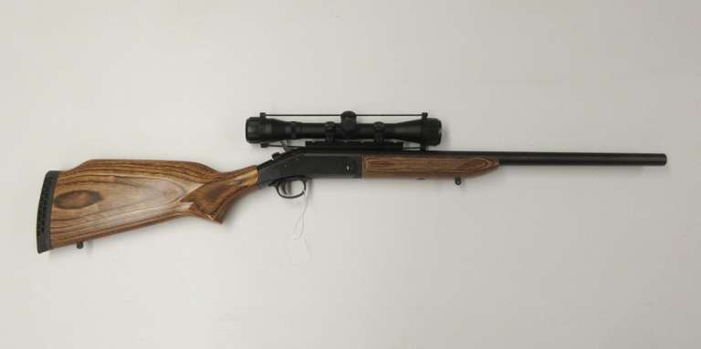 "Harrington & Richardson Single Shot 450-Marlin Rifle, Ultra Hunter, Laminated Stock 22"" Barrel with 4x32 Blazer Scope, Serial No. 4159xx"