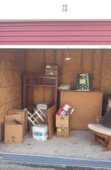 Storage Unit No. 73, Unit Appears to Contain: Household Items