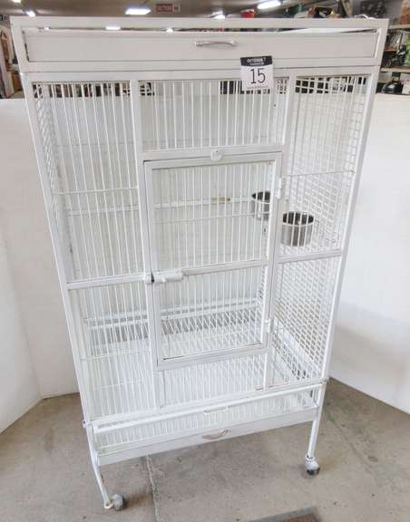Parrot Cage with Two Feed Cups