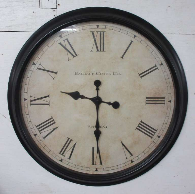 Baldauf Clock Co. Clock