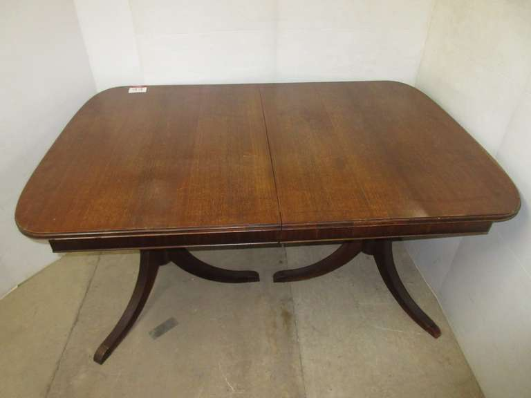 Solid Wood Dining Table with Duncan Phyfe Legs