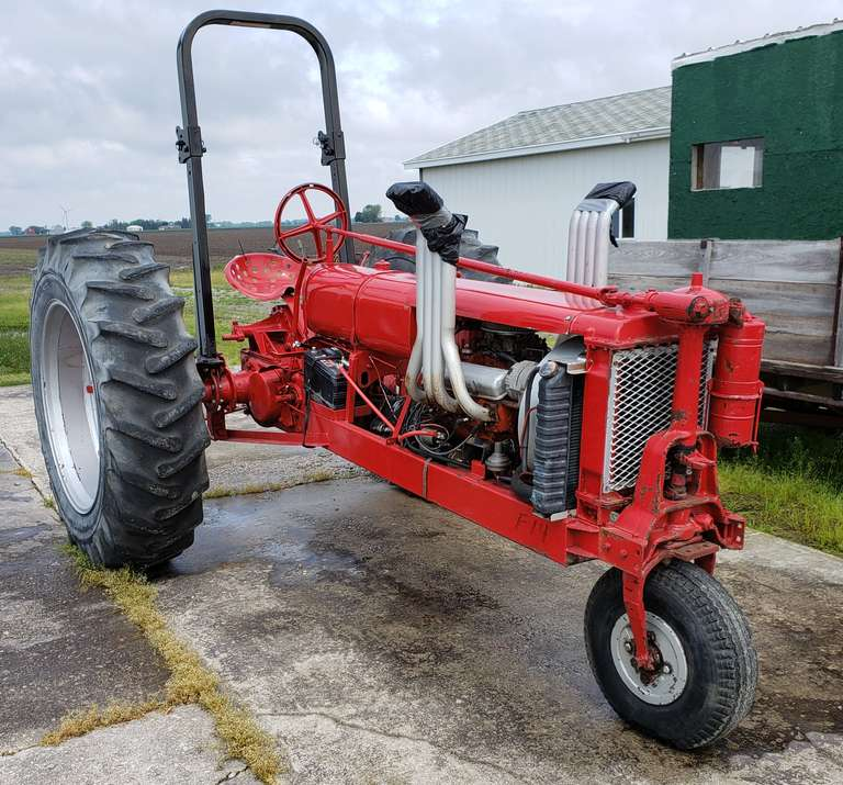 Farmall F12 Pulling Tractor, V-8 Chevy Engine, 3-Speed Transmission, Unfinished