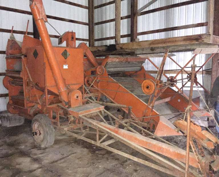 Allis-Chalmers Model 60 Combine, Second Owner, Housed