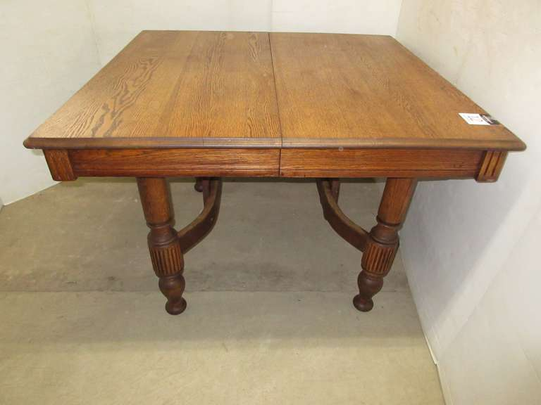 Antique Oak Table with Carved Legs