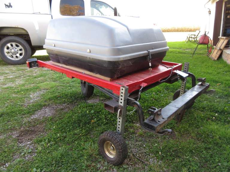 Shop Built Luggage Carrier with Hookup for Older Jeep