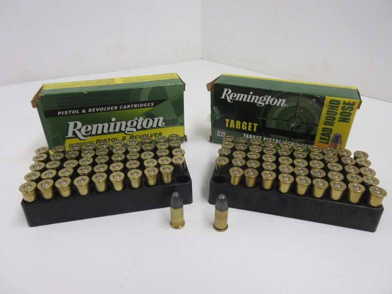 (100) Rounds of Remington .38 S&W, 146-Grain Lead Round Nose