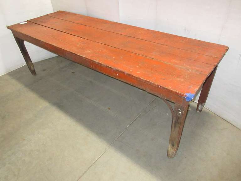 Solid Wood Shop Table, Primitive