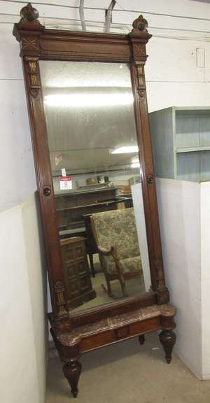 Pier Mirror, Sets Up on Soapstone Base