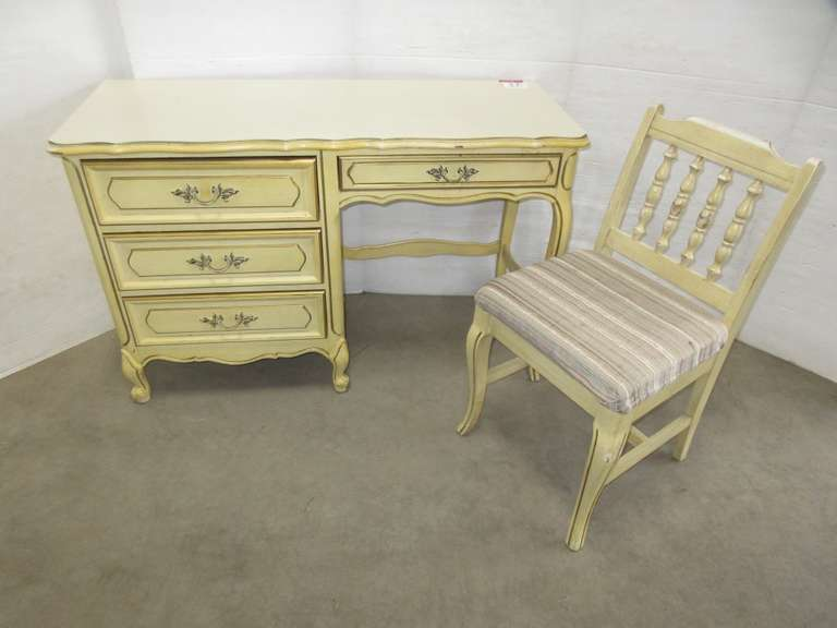 Older French Provincial Desk and Chair