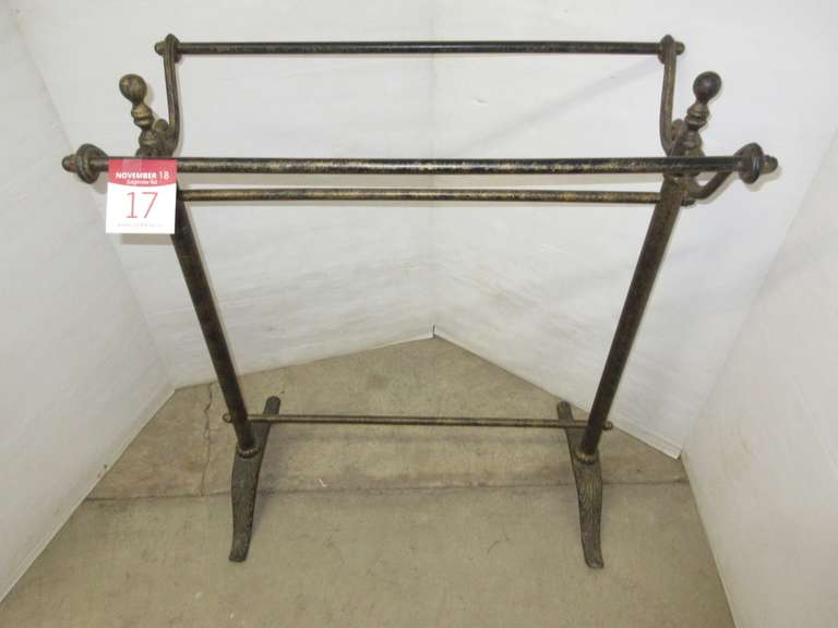 Quilt Rack or Blanket Rack, Heavy, Wrought Iron