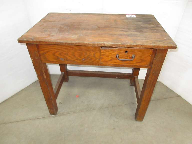 Old School Desk, Solid Oak