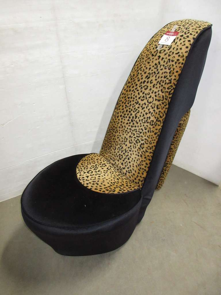 Plush High Heel Chair, Matches Lot No. 9