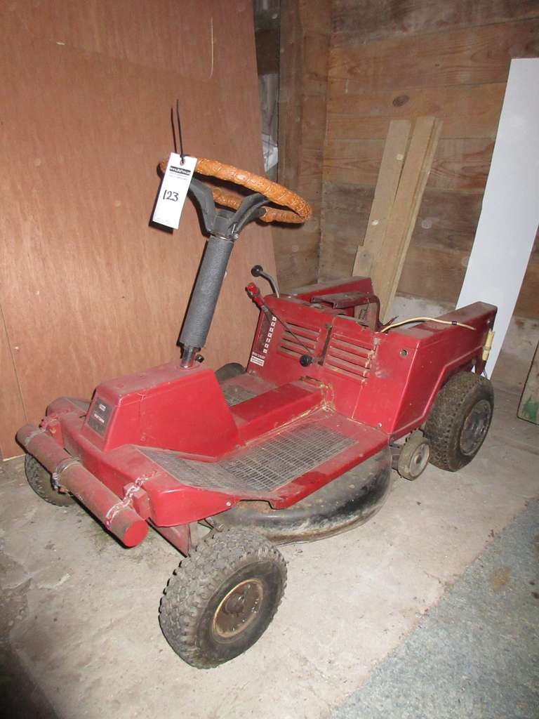 Sears Craftsman Frame Riding Mower with John Deere Steering Wheel, For Parts or Repair, No Engine
