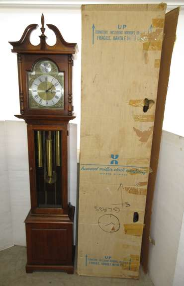 Howard Miller Grandmother Clock, Comes with Original Box