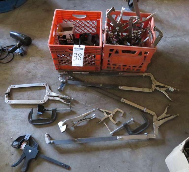 Various C-Clamps and Vise Grip Clamps