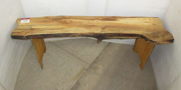 Maple Bench, Live Edge, Rough Sawn