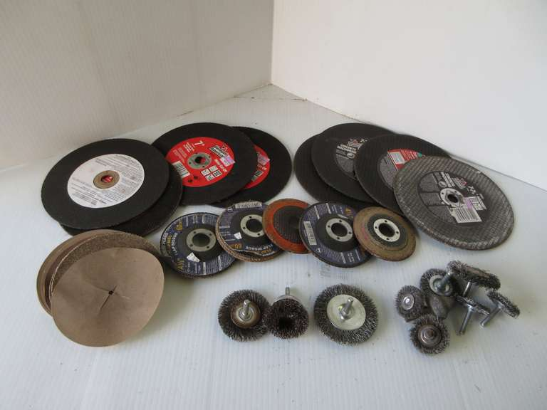 Assortment of Abrasive Wheels and Miscellaneous Wire Wheels