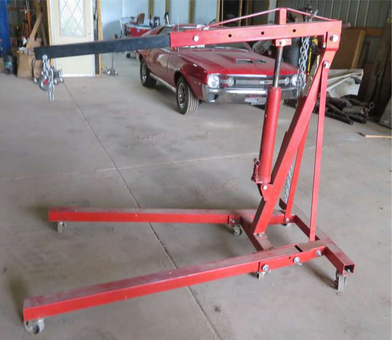 10-Ton Long Ram Jack Engine Hoist, 4,000 lb. Max Capacity