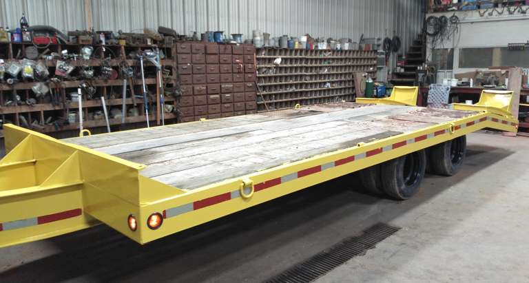10-Ton Tag Trailer, 21' Deck Plus 5' Beavertail, Electric Brakes, Deck is Good, New White Oak on Beavertail Ramp (See Picture), All New LED Lights, Dexter Oil Bath Axles, Housed, Clean and Clear Title