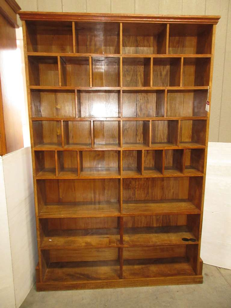 Antique Multi-Cubby Showcase with Shelf Room