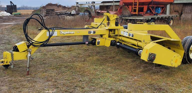 Degelman 14' Stone Rake, 1000 RPM PTO, Hydraulic Angle Control, Used on 200-250 Acres Only, Like New