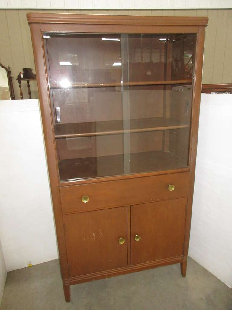 Wood Display Cabinet, Matches Lot Nos. 42, 43, and 44