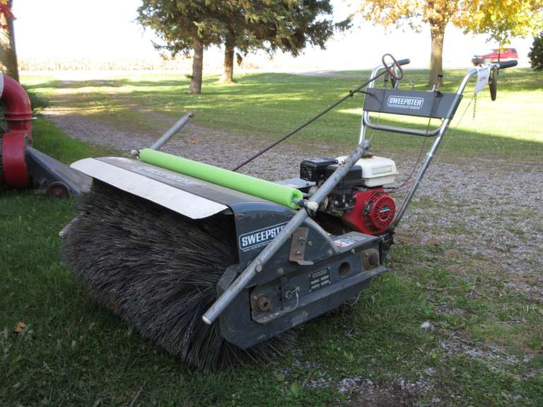 "Sweepster with 5.5 HP Honda Gas Engine, 34"" Broom, Retrofit Bag Catcher, Engine Turns Over, Should Run With Some Attention."