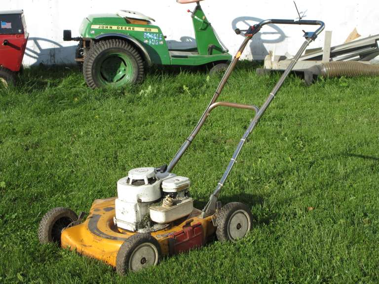 "Older 19"" Push Mower, Model 92502, Type 0T780-02, Engine Turns Over, Should Run With Some Attention.  Note:  All of the outside equipment items have been stored inside until recently to prepare for the auction!"