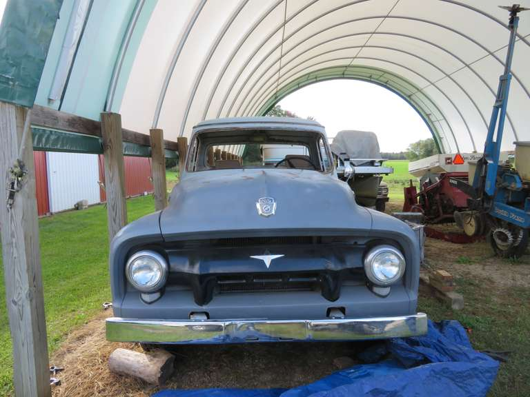 1954 Ford F100, No Engine or Transmission, Will Require Total Restoration, No Windshield or Windows, No Interior, Solid Truck, Recently Purchased from California, Title Included