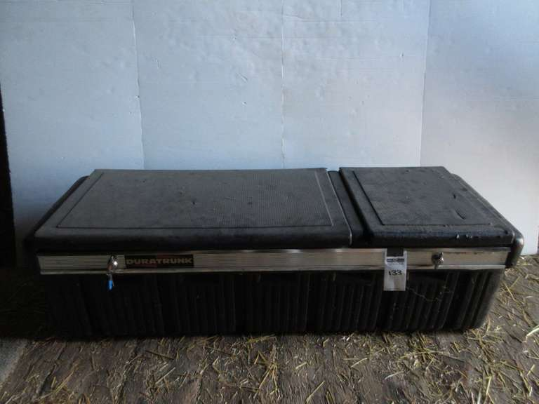 "Duratrunk (Lapeer, MI) Plastic Truck Tool Box with Key and 75/25 Split Doors, 61""Wide"