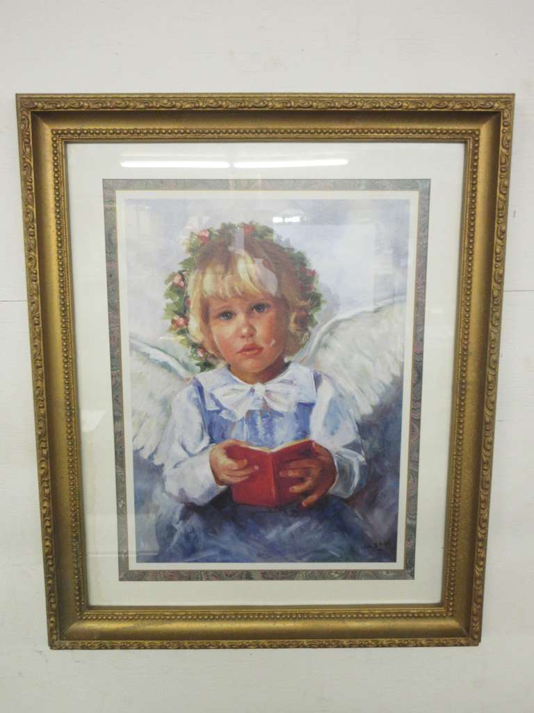 Albrecht Auctions   20s Angel Picture by Eloise B. Wright ...