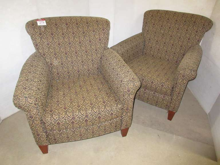 (2) Upholstered Club Chairs