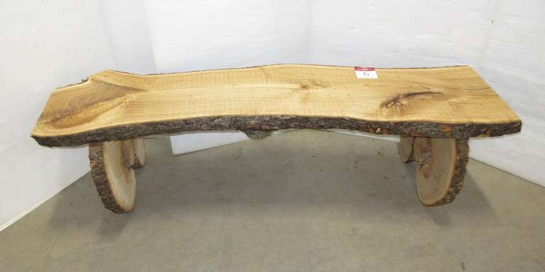 Catalpa Bench, Bean Shaped Tree, Live Edge, Rough Sawn