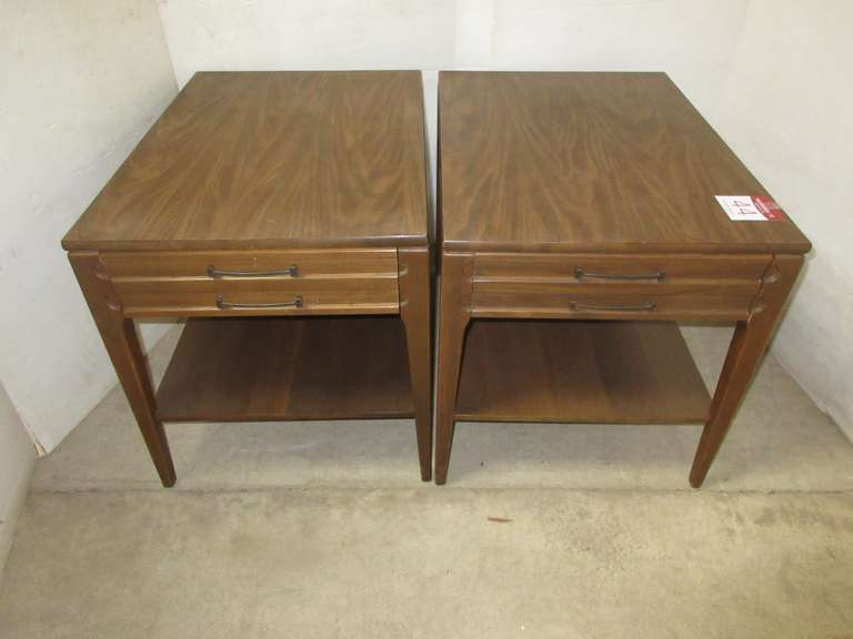 (2) Mid-Century Mersman End Tables with Drawer