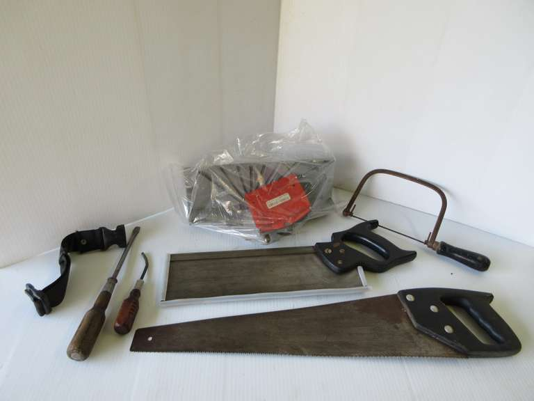 Miter Saw, Coping Saw, and Hand Saw