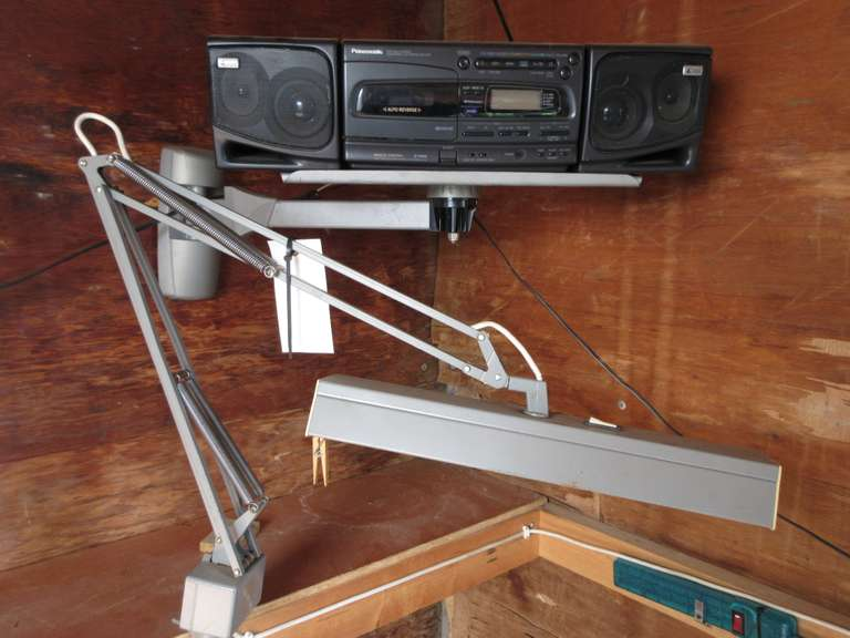 Clamp on Light; Wall Bracket; Panasonic Radio