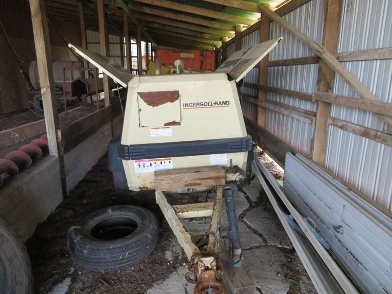 1999 Ingersoll Rand 185 Air Compressor, Model #P185WJD, Started and Ran Well when Last Used Over a Year Ago