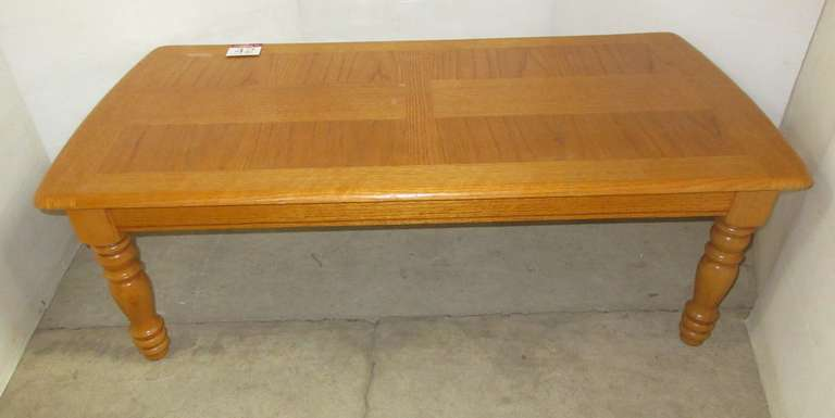 Oak Coffee Table, Inlaid Wood, Matches Lot No. 43