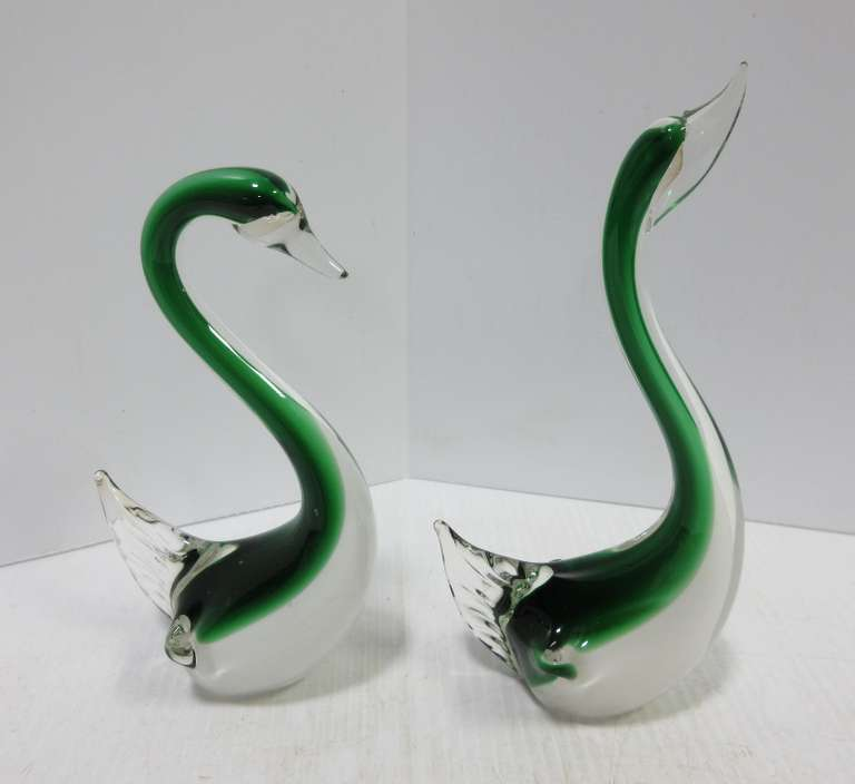 Glass Butterfly Figurine Hand Blown Murano Style Glass Ornament #225