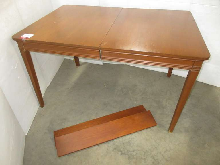 Wood Dining Table with (2) Leaves, Matches Lot Nos. 41, 43, and 44