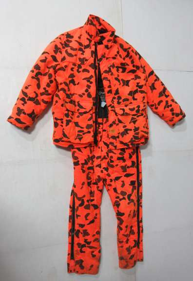 Orange Camo Bib and Jacket