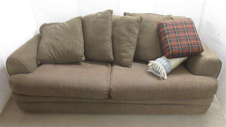 Albrecht Auctions | Brown Art Van Pillow Backed Full Size ...