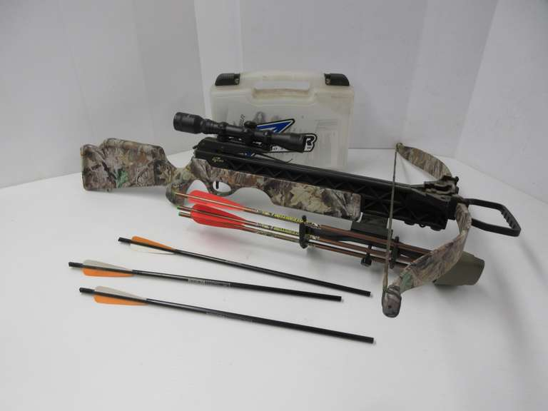 Excalibur Crossbow with Scope, Rope Cocking Aid, String Aid, (6) Arrows, Organizer, Wax, Lube, and More