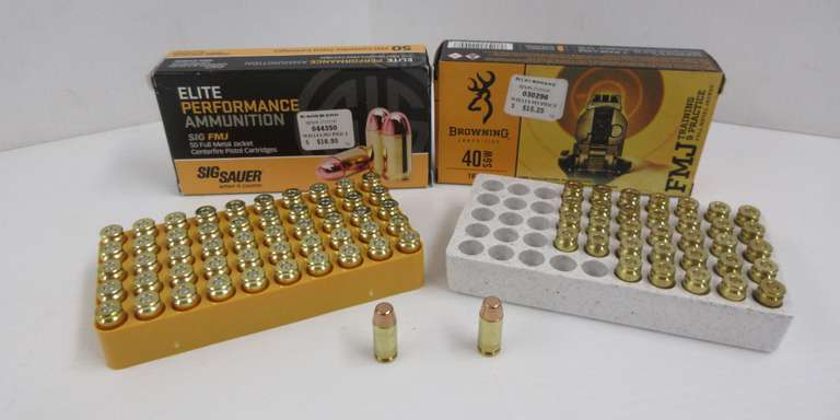 (2) Boxes of .40S&W, 85 Rounds Total