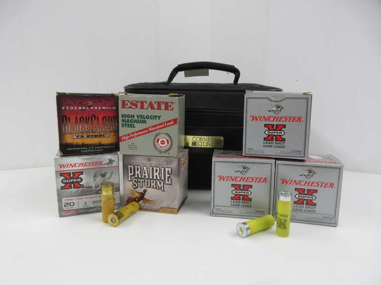 (4) Boxes of 20-Gauge Steel Shot; (3) Boxes of 20-Gauge Target Loads, One Box Only Has Five Rounds